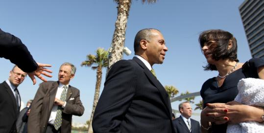 Governor Deval Patrick spoke with Diane Hessan, president and chief executive of Communispace Corp., in Tel Aviv last week.