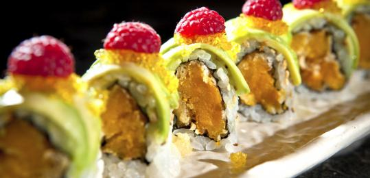 Daikanyama in the Chestnut Hill Mall serves a variety of sushi including Sunny Maki (pictured).