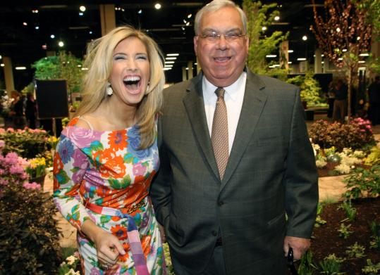 Bianca de la Garza and Mayor Menino at last night's Flower & Garden Show preview party.
