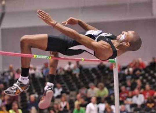 Corey Thomas earned the national high-jump title in Alburquerque.