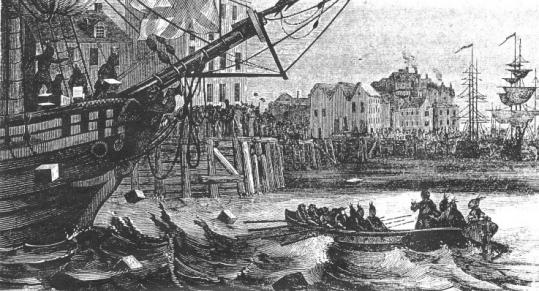 On Dec. 16, 1773, some 80 men boarded British cargo ships then tossed boxes of tea into the harbor.