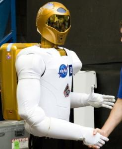 Astronauts at the International Space Station unpacked Robonaut in a light-hearted ceremony broadcast by NASA.