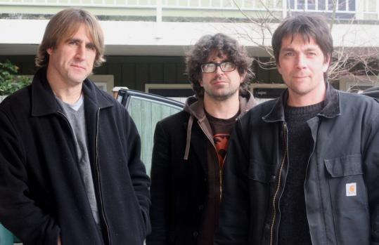 "Robert D'Amico (left) has joined Sebadoh cofounder Lou Barlow (center) and longtime member Jason Loewenstein on the ""Remembering Time'' tour."