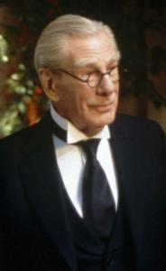"Michael Gough as Alfred in ""Batman and Robin'' (1997)."