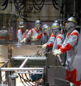 Japanese officials observed the workings of a fuel storage pool last year in the third reactor building at Fukushima Daiichi's No. 1 plant.