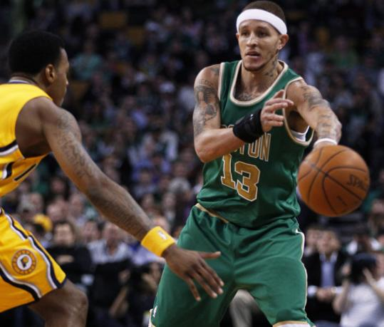 Delonte West's return helped the Celtics' reserves dominate their Pacers counterparts Wednesday night.