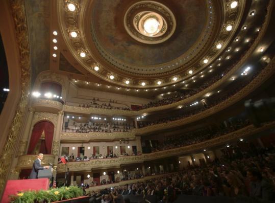 President Obama delivered remarks yesterday at the majestic Theatro Municipal in Rio de Janeiro.