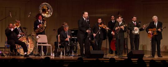 The Preservation Hall Jazz Band and the Del McCoury Band combined efforts Saturday at Symphony Hall.