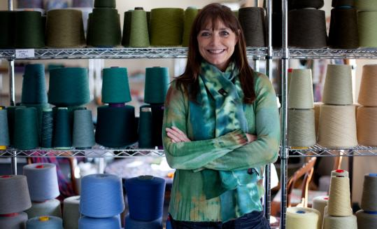 Karen Allen, besides being an actress and a mother, has also started her own line of knitwear designs and a shop in Great Barrington to sell them.
