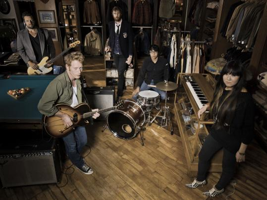 From left: Dan Burke, Chris Warren, Dave Vicini, Dominic Mariano, and Fumika Kato of the Boston band Viva Viva.