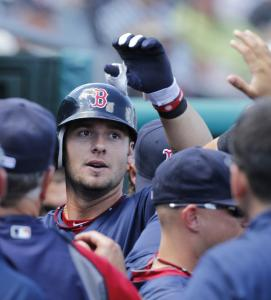 Red Sox catcher Jarrod Saltalamacchia is popular with teammates after homering against Florida in yesterday's slugfest.