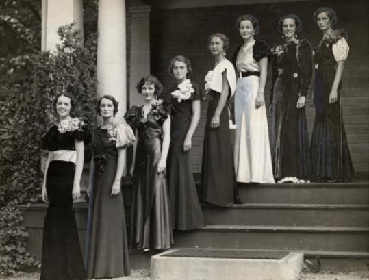 League members modeled at a charity event in 1933.