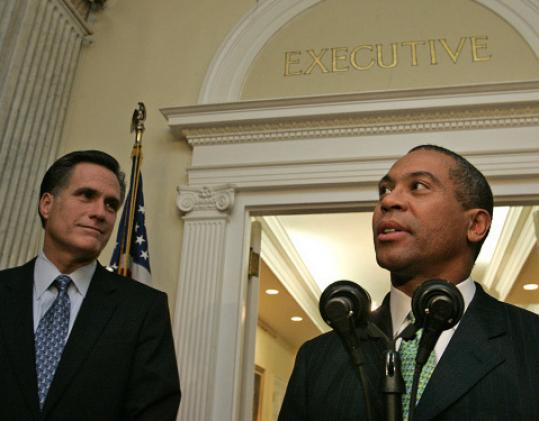In 2006, Governor Mitt Romney and his newly elected successor, Deval Patrick, worked together on the transition.