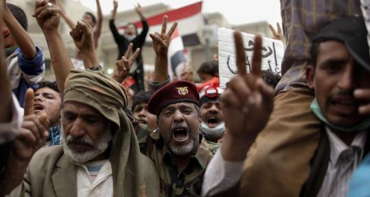An opposition coalition of youth groups, military defectors, clerics, and tribal leaders called for the resignation of President Ali Abdullah Saleh yesterday at in Sana, Yemen.