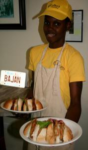 A basic Barbados cutter consists of a salt bread bun filled with cheese, flying fish (pictured), pork, or, most often, ham.