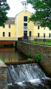 Now a museum where visitors can tour the grounds, Slater Mill is the site of the first water-powered cotton-spinning mill in America.