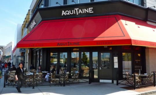 The options off Route 128 include Aquitaine in Dedham's Legacy Place.