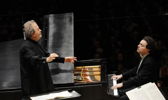 Conductor John Nelson (left) and Evgeny Kissin join this week at the BSO.
