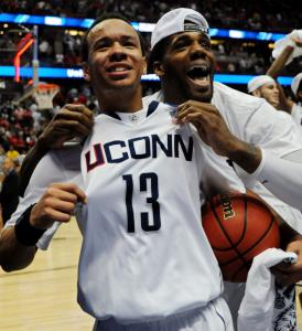 UConn's Shabazz Napier's (13) and Alex Oriakhi's local ties have given Massachusetts a claim to the Huskies' fame.