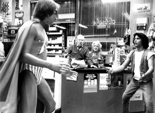 John Ritter (left) in 'Hero at Large.'