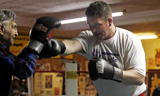 Kevin McBride has been training at Goody Petronelli's gym in Brockton for his fight with contender Tomasz Adamek.