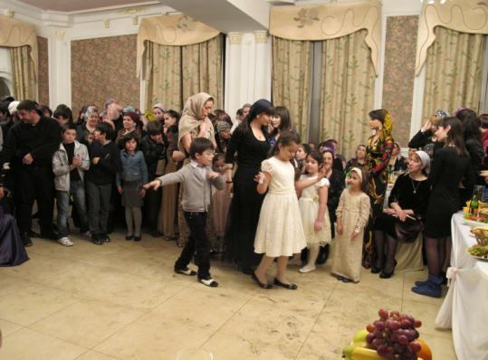 At a Grozny wedding last month, some women were not following Chechen leaders' orders that they wear headscarves.