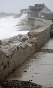 Parts of a Scituate sea wall were damaged by a ferocious winter storm in December that left many residents flooded out.