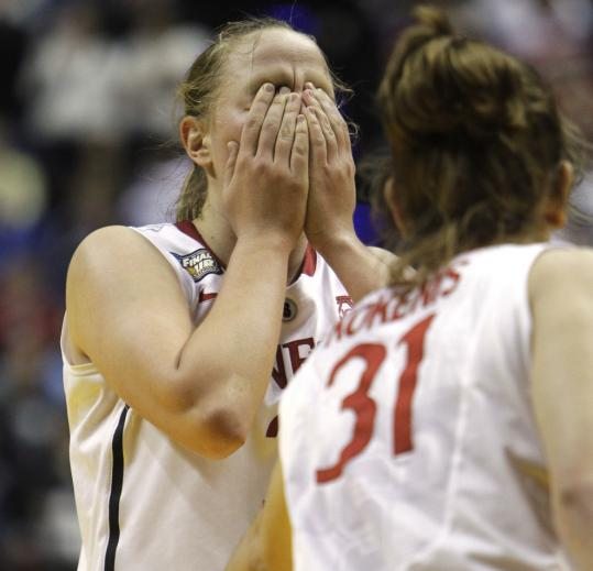 Stanford had a short stay in its fourth straight Final Four, and that was upsetting to sophomore forward Mikaela Ruef. The Cardinal led by 10 with 6:01 left.