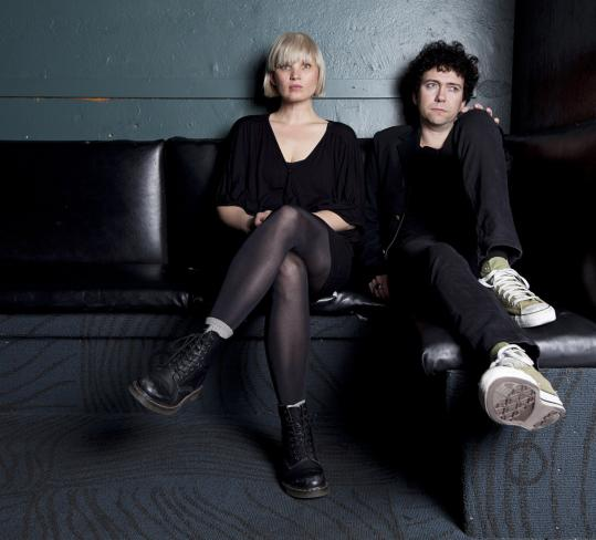 The Raveonettes — Sharin Foo and Sune Rose Wagner — at the Paradise Rock Club in Allston last week before a show.