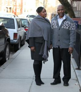 Rainelle White of Roxbury sometimes suggests that her husband, Cedric, dress in clothes that complement hers. ''I really want to do it right,'' he says.