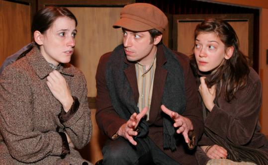 Theatre Espresso actors (from left) Amanda Collins, Matthew Kossack, and Megan Cooper performing in &#8220;American Tapestry&#8217;&#8217; this past fall in Boston.