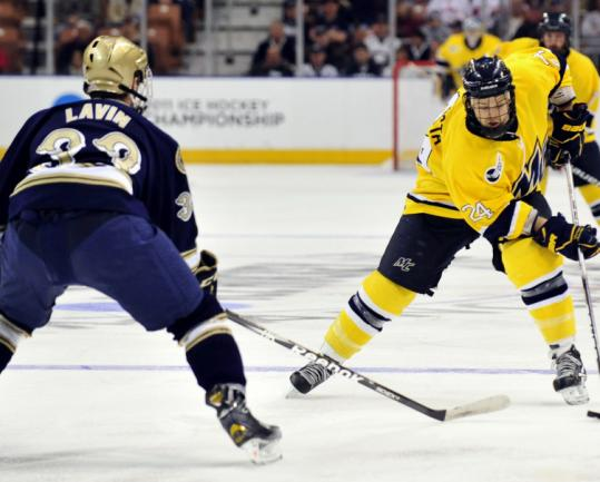 Frozen Four: ND's Lavin Has Been A Mobile Defenseman