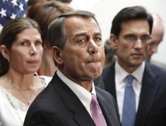 House Speaker John Boehner said failure would not end the talks and marathon sessions would continue in the weekend.
