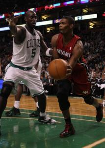 Chris Bosh (right) believes it's important for the Heat to beat the Celtics before the playoffs.