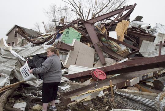 Hundreds of residents in Mapleton, Iowa, were displaced after the tornado on Saturday, but no serious injuries were reported.
