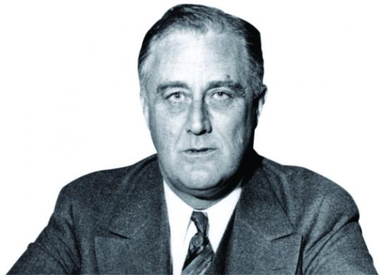 President Franklin D. Roosevelt died in 1945.