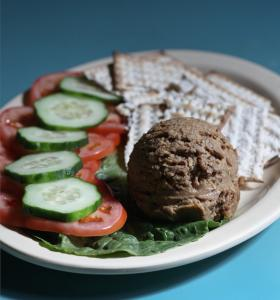 A chopped liver platter from Barry's Village Deli in Newton.