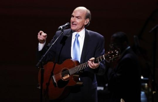 James Taylor performed at Carnegie Hall to celebrate the venue's 120th anniversary.