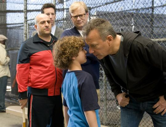 Paul Reiser (far right, with Koby Rouviere and — back row, from left — Omid Djalili, Ben Shenkman, and Andrew Daly) stars in an NBC sitcom that premieres tonight.