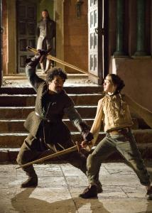 "Arya (Maisie Williams) gets a lesson in sword fighting from her teacher in ""Game of Thrones.''"