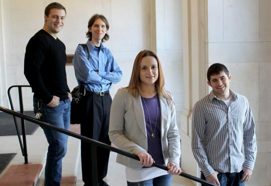 Jonathan Brucato, Brad Powers, Lauren Viera, and Joe Ristaino are set to graduate from Wentworth Institute of Technology.