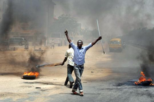 Post-election riots grip many states across Nigeria; Photo courtesy of the AFP
