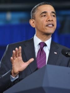 President Obama spoke about his deficit-reducing strategy at a town hall meeting yesterday in Annandale, Va.