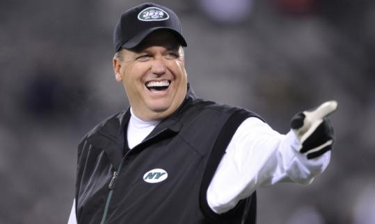 The Patriots' first meeting with brash coach Rex Ryan and his Jets this season will be during Week 5, at home Oct. 9.