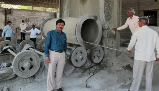 Avinash Jagtap, a Dalit, once a caste of untouchables, makes cement pipes in Pune. India now has a robust Dalit middle class, including a growing number of business owners.