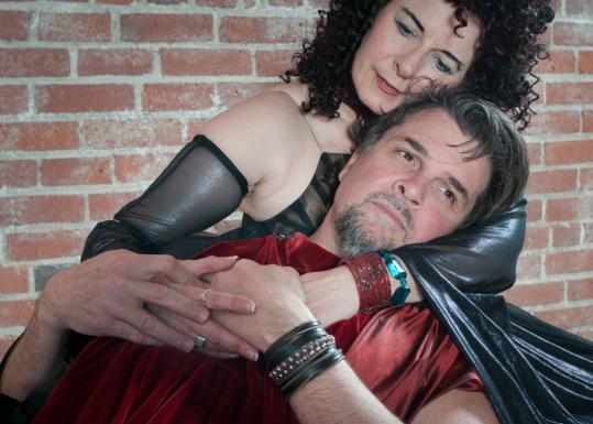 "Paula Plum stars with James Andreassi in Actors' Shakespeare Project's ""Antony and Cleopatra.''"