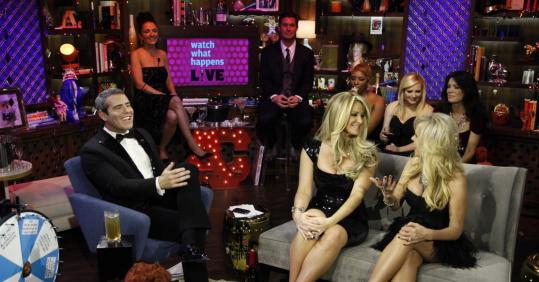 """Andy's New Year's Party'' on Dec. 31 starred Andy Cohen (left) host of Bravo's ""Watch What Happens Live'' and executive vice president of original programming and development."