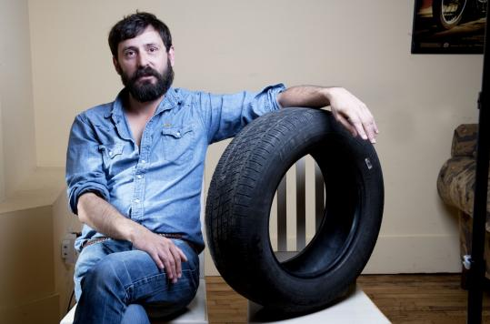 """From the first line of the script that I wrote, 'Rubber' was supposed to be funny,'' says director Quentin Dupieux of his film about a tire with telekinetic powers. He shot the movie with a Canon 5D single-lens-reflex still image and video hybrid camera."