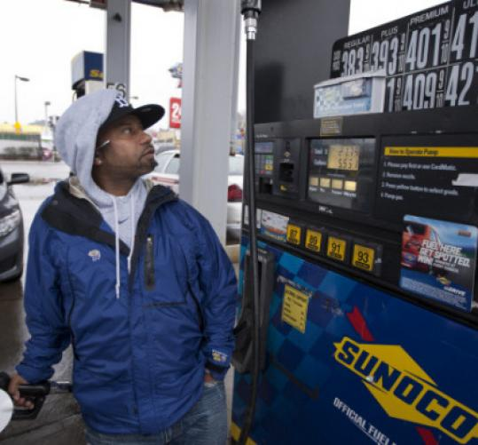 Julio Barbosa, a taxi driver filling up yesterday, said he now spends $65 in gas for a 12-hour shift.