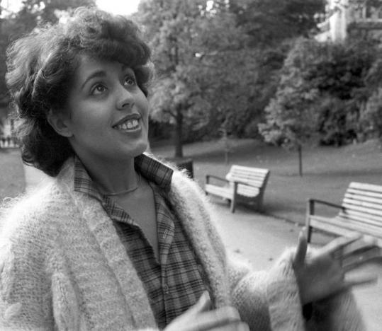 British singer Poly Styrene was photographed in London.